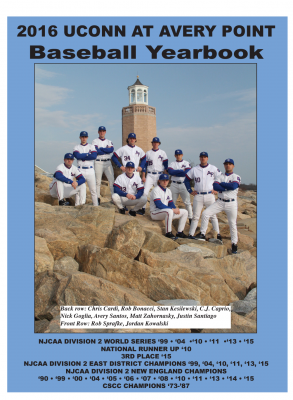 Baseball Yearbook Cover